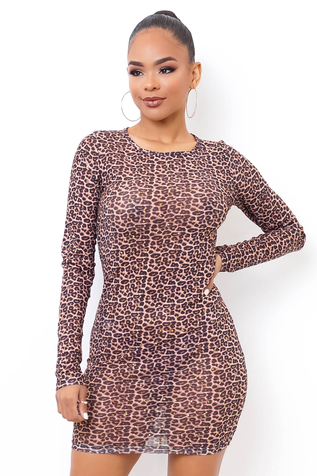 Dolce Mini Dress - Brown