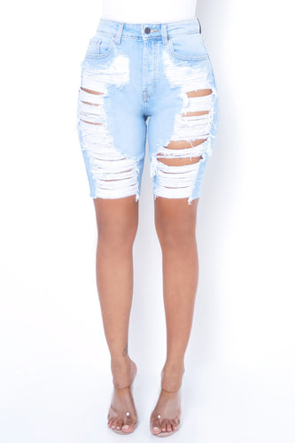 Beat The Trend Bottoms - Light Blue