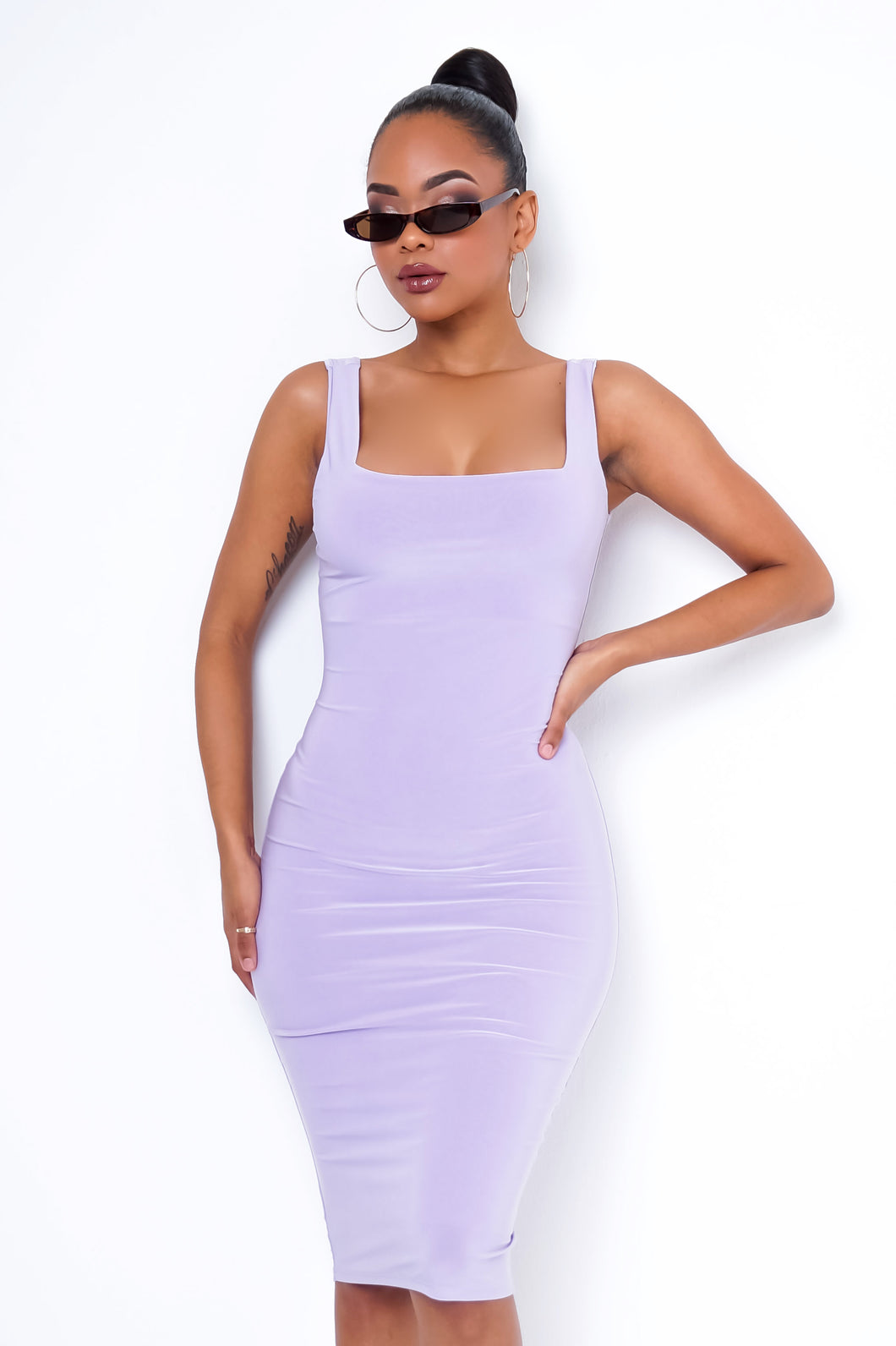 Xenia Mini Dress - Lavender