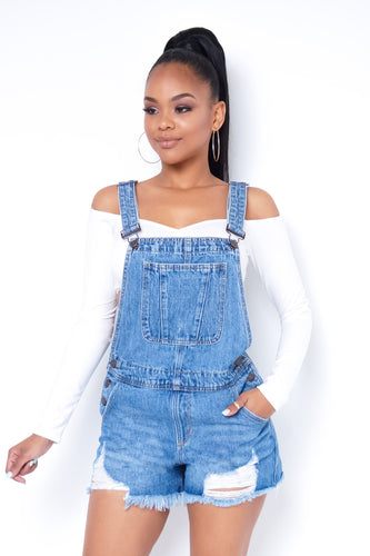 Trendsetting Overalls - Light Blue