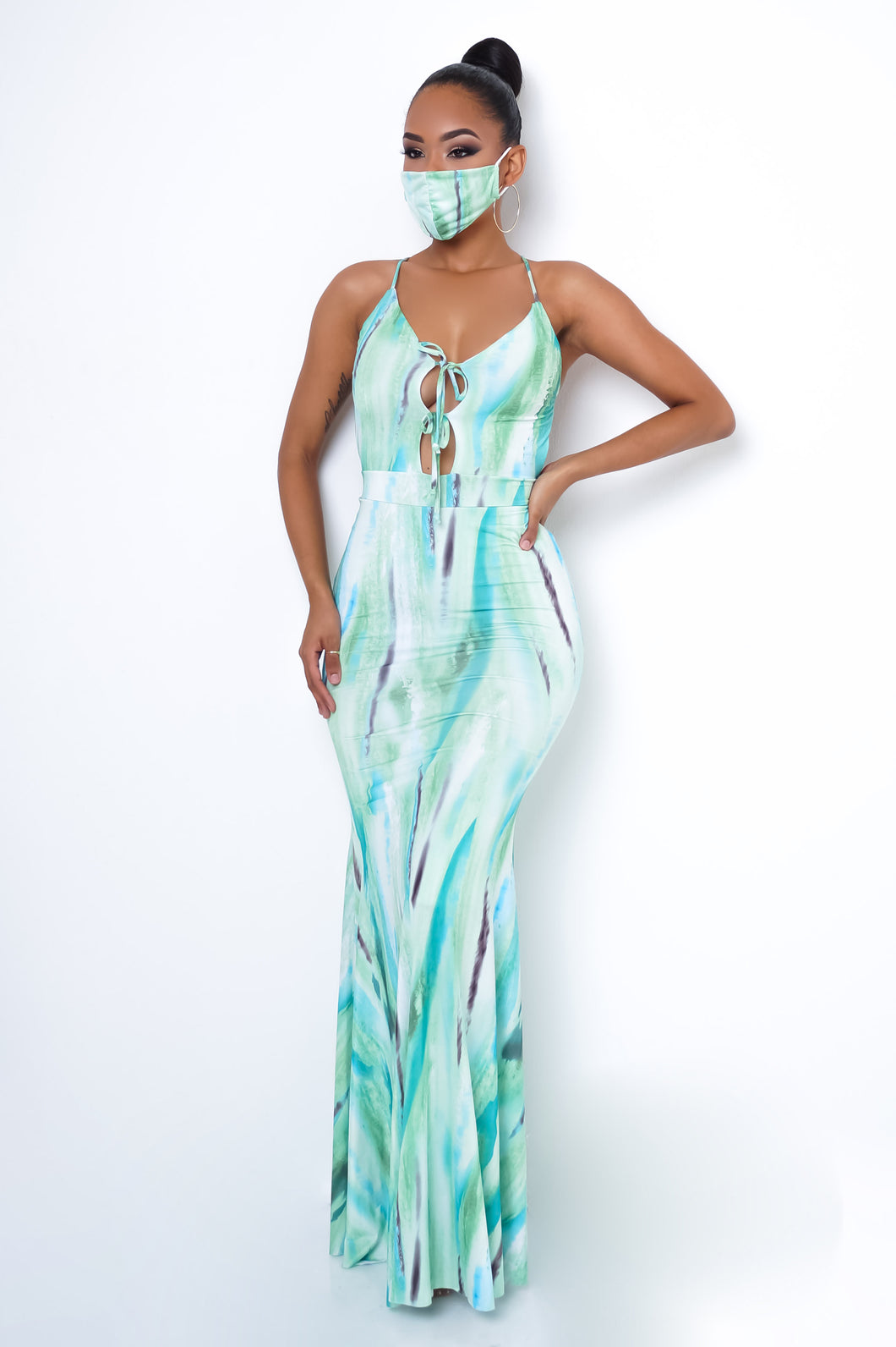 Esmeralda Maxi Dress Set - Green