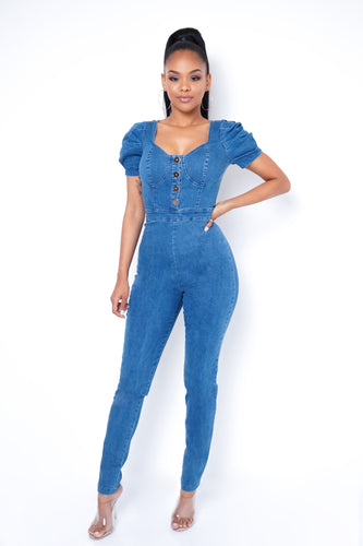 Love Jumpsuit - Blue