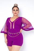 Plus Size Miriam Romper - Purple