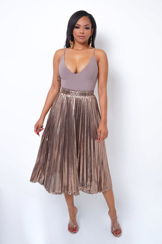 Gabriella Midi Skirt - Copper