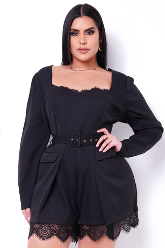 Plus Size Sonya Romper - Black