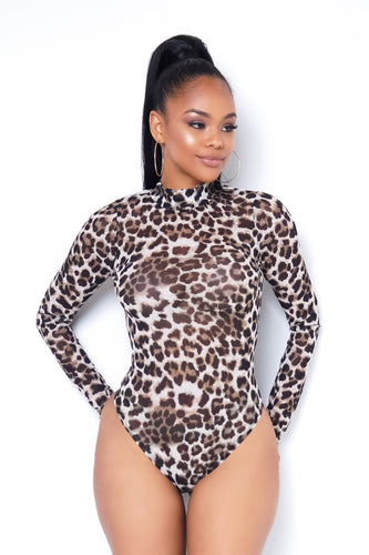 Look At Her Now Bodysuit - Brown