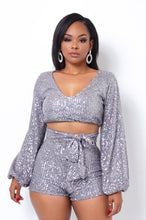 Lover Two Piece Short Set - Gray