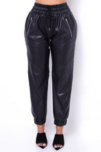 Perfect Touch Vegan Leather Pants - Black