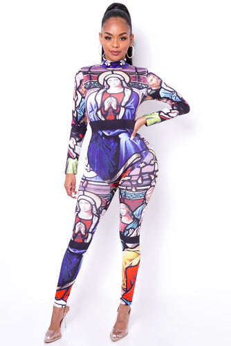 A Work Of Art Jumpsuit - Multi
