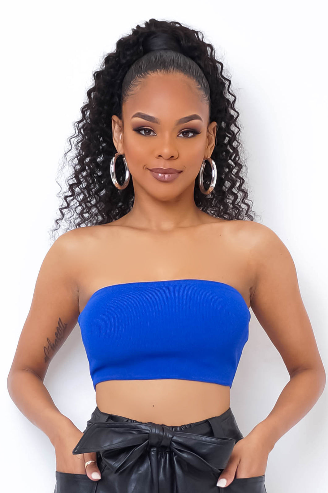 Queen Of Basics Crop Top - Blue