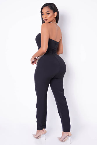 Right And Precise Jumpsuit - Black