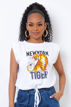New York Tiger Top- White