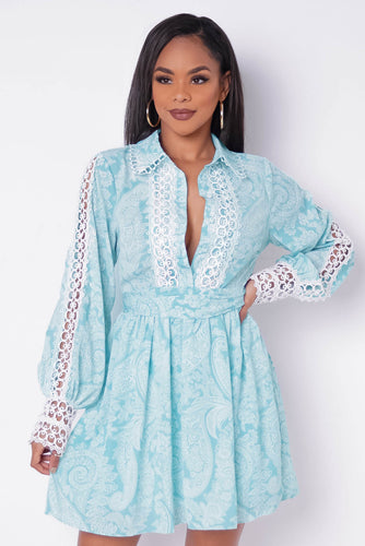 Sweet Girl Mini Dress - Mint