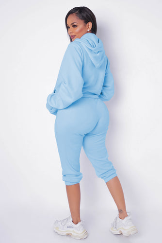 Ready, Set, Go Piece Pant Set - Baby Blue