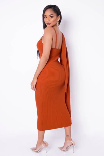 Paloma Two Piece Dress Set - Rust