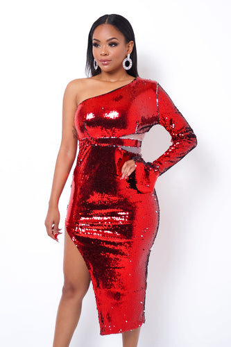 Heiress Mini Dress - Red
