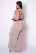Plus Size Eboni Jumpsuit - Beige