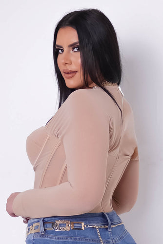 Plus Size Bad Decisions Top - Beige