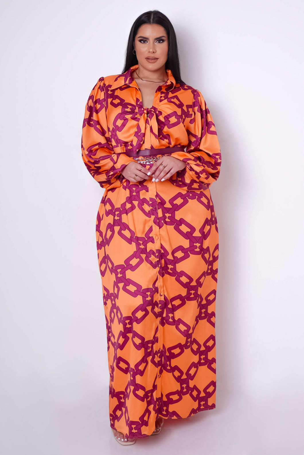 Plus Size Kali Maxi Dress - Orange