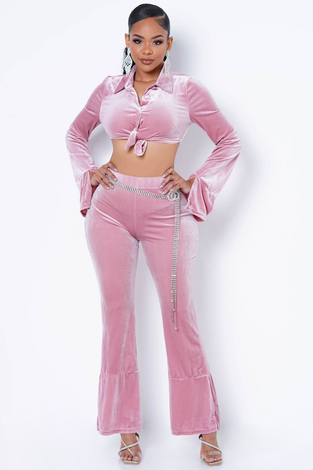 Sharpay Two Piece Pant Set - Pink