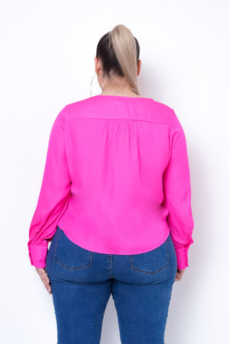 Plus Size Erin Top - Fuchsia