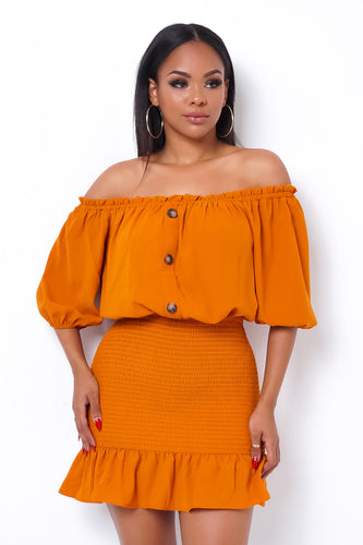 Sweetheart Mini Dress - Orange