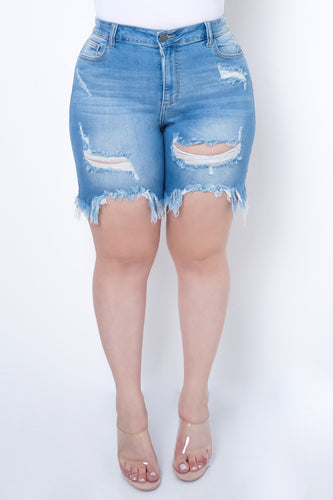 Plus Size Hilary Bottoms - Light Blue