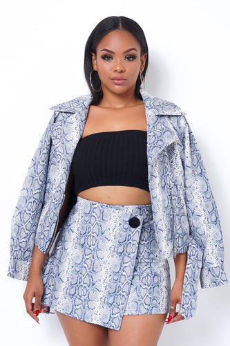 Danger Zone Two Piece Skort Set - Gray