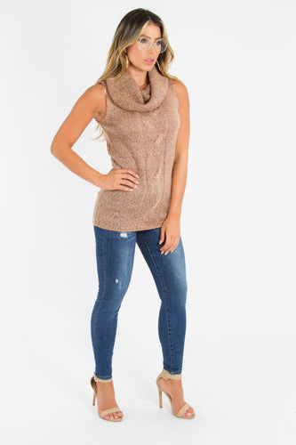 Knit Cowl Neck Sweater Top