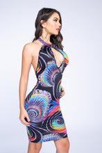 Super Colorful Backless Dress