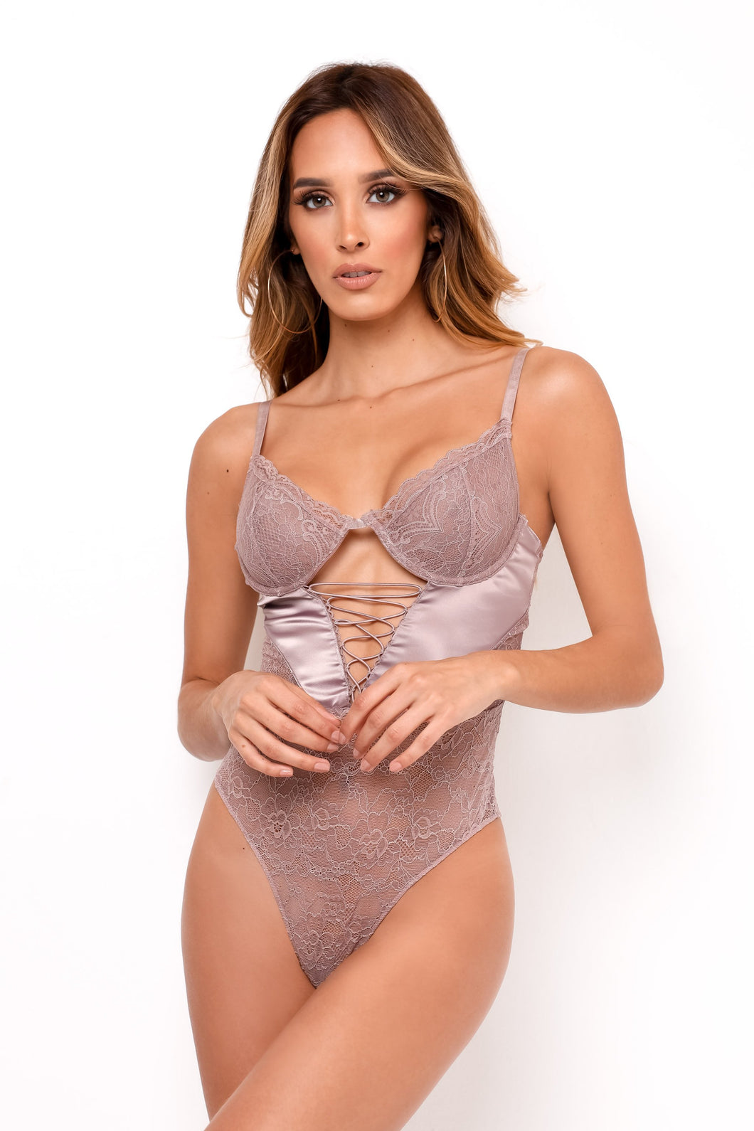 Too Late Bodysuit - Mauve