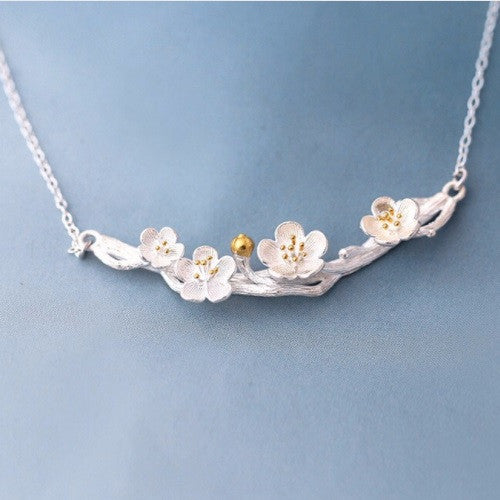Silver Spring Blossom Necklace