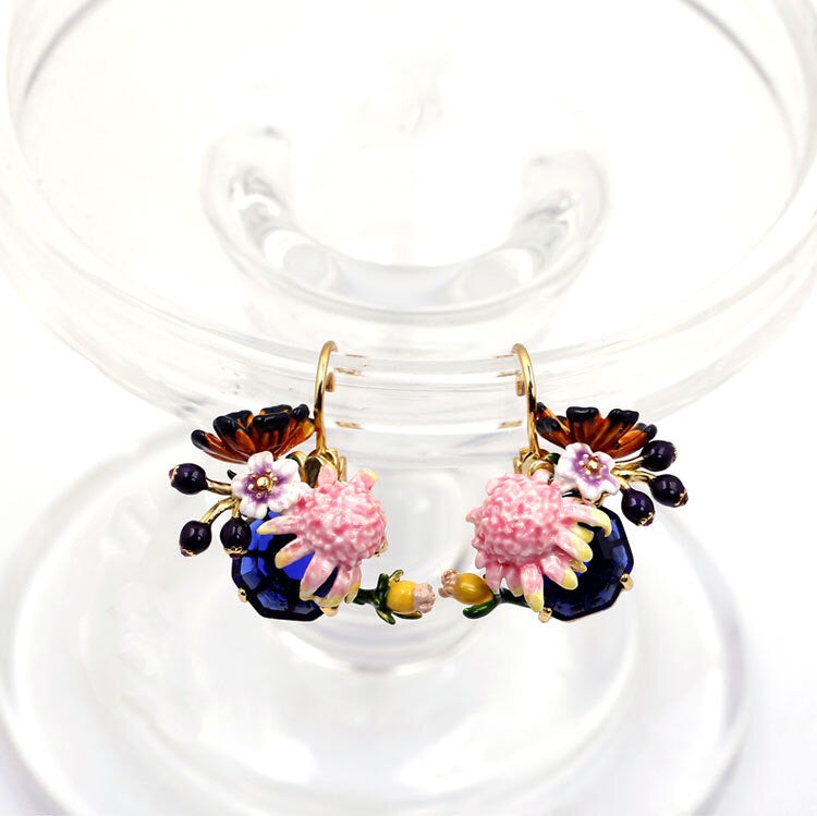 Monet inspired drop earrings