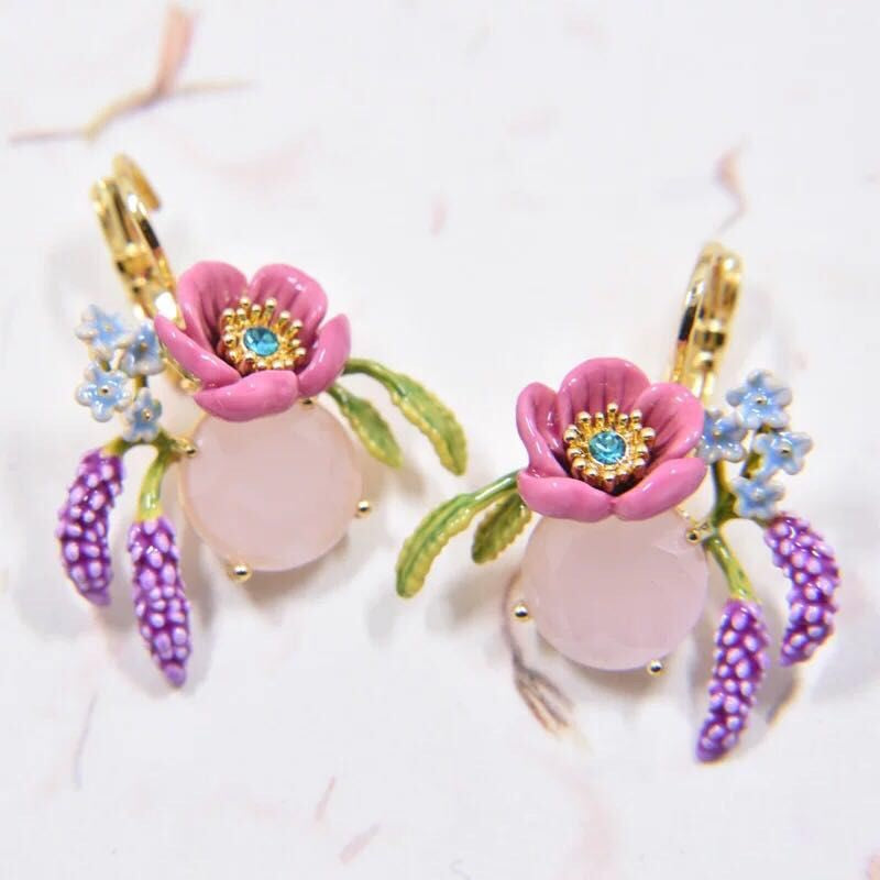 Holidays to Provence drop earrings