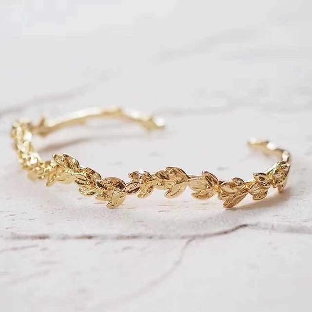 Blazing Golden Vintage  Bangle Adjustable