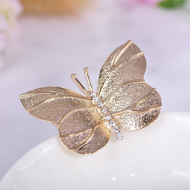 Butterfly Brooches Black and gold