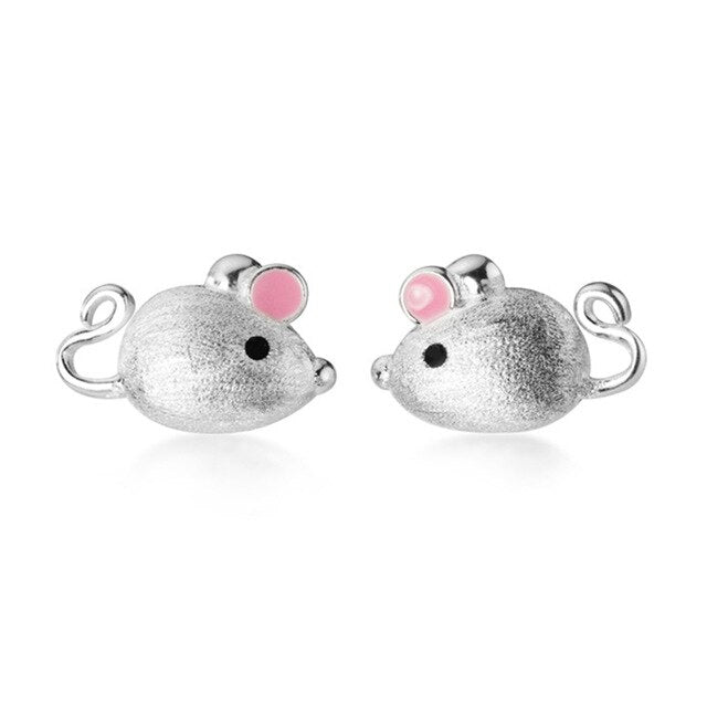 Sterling Silver mouse with tea pot tail