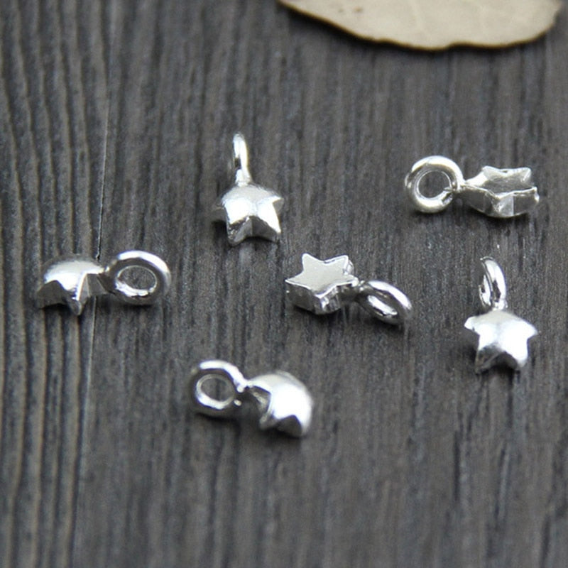 100% 925 Sterling Silver Small star charm