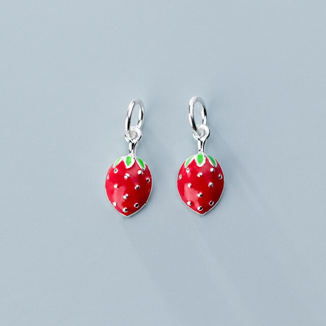 925 Sterling Silver strawberry charm