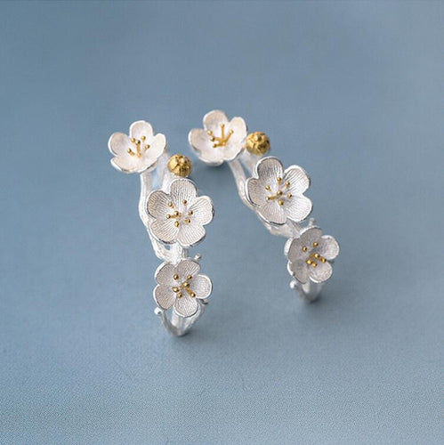 Silver Spring Blossom Earrings