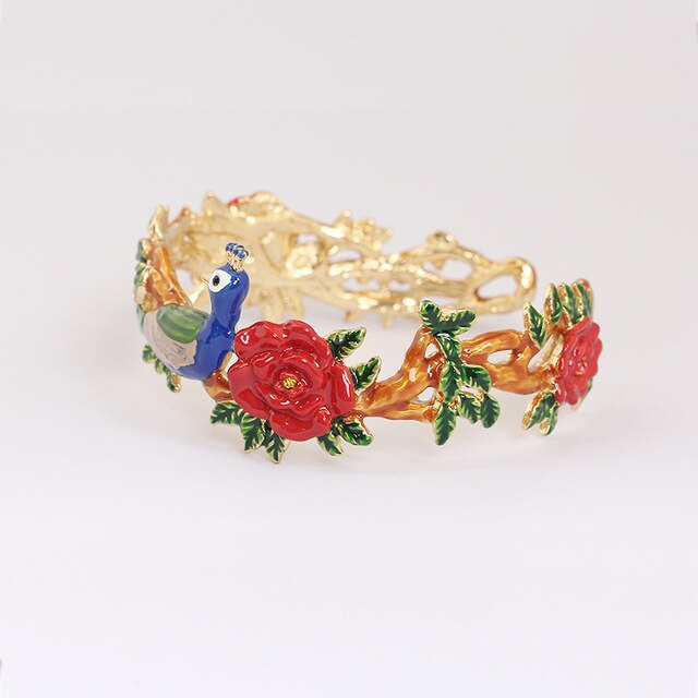 peacock party piece bracelet
