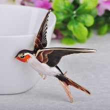 Swallow Bird Shape Colorful Enamel Brooches Animal Pin
