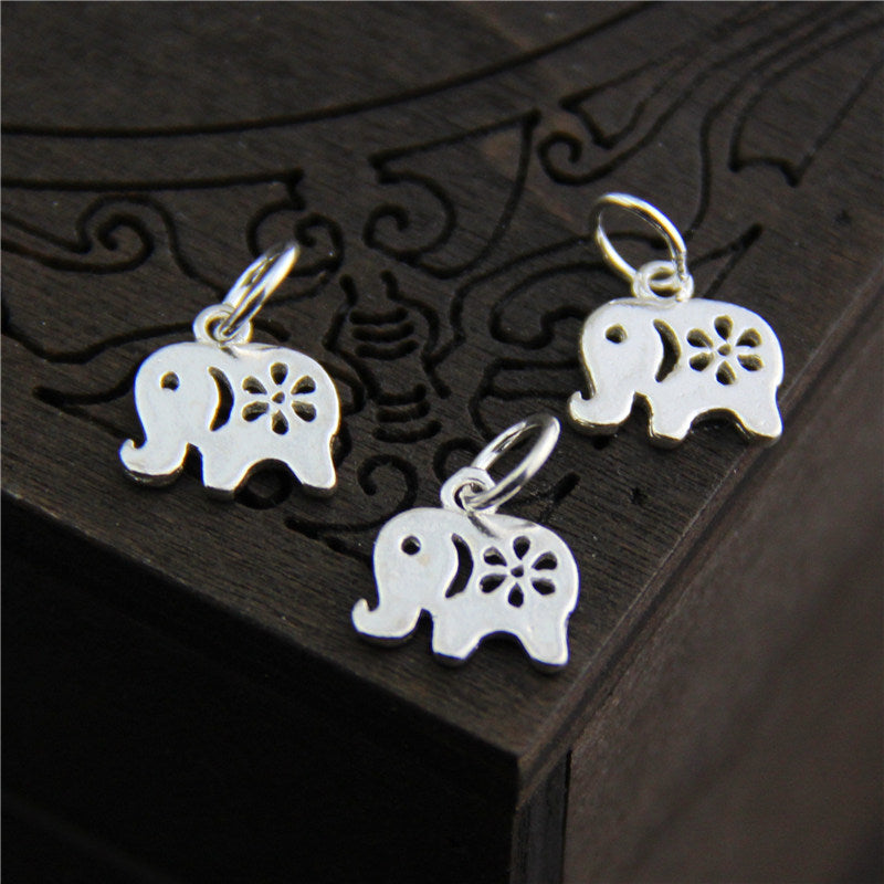100% 925 Sterling Silver elephant charm