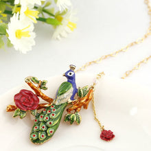 Gilded Peacock necklace