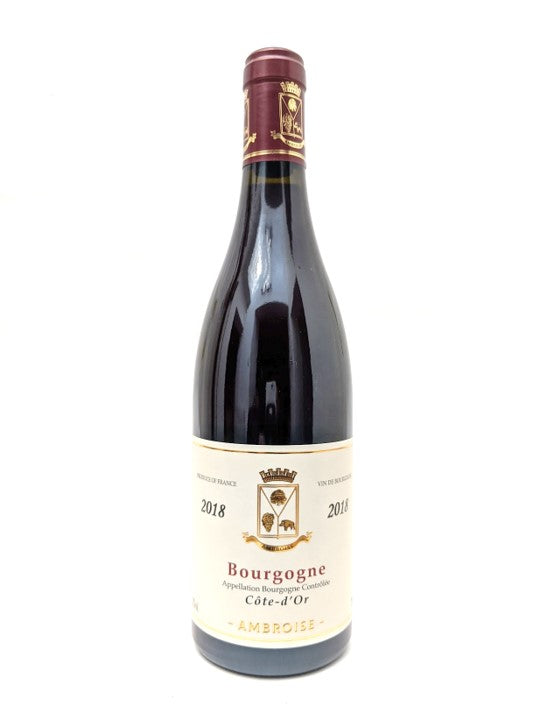 2018 Bertrand Ambroise Bourgogne Côte d'Or Pinot Noir 6 pack Special Offer