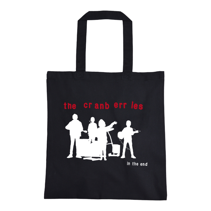 'Album Silhouette' Black Tote Bag