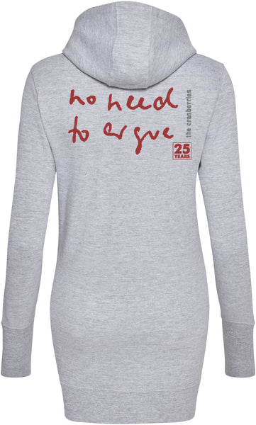 'No Need To Argue' Grey Hooded Dress