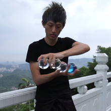clear juggling balls