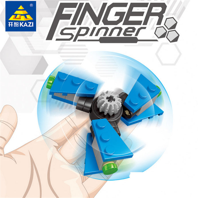 x6 Lego Style Build Your Own Fidget Spinners