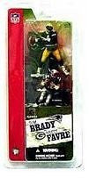 Mcfarlane 3' NFL 2-packs Tom Brady and Brett Favre